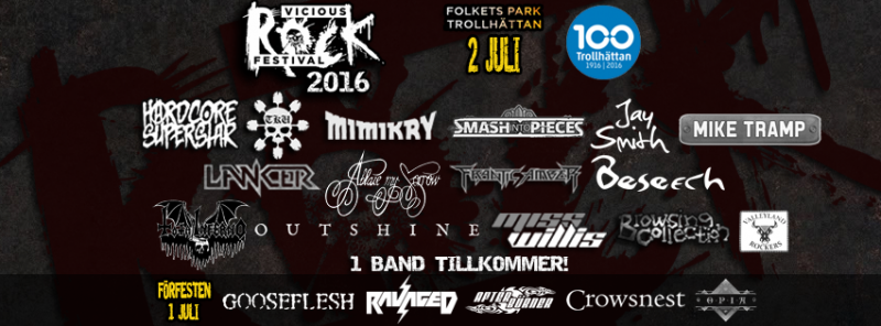 Vicious Rock Festival line-up